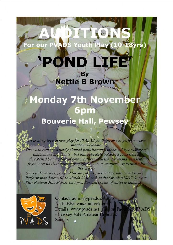 pond-life-audition-notice