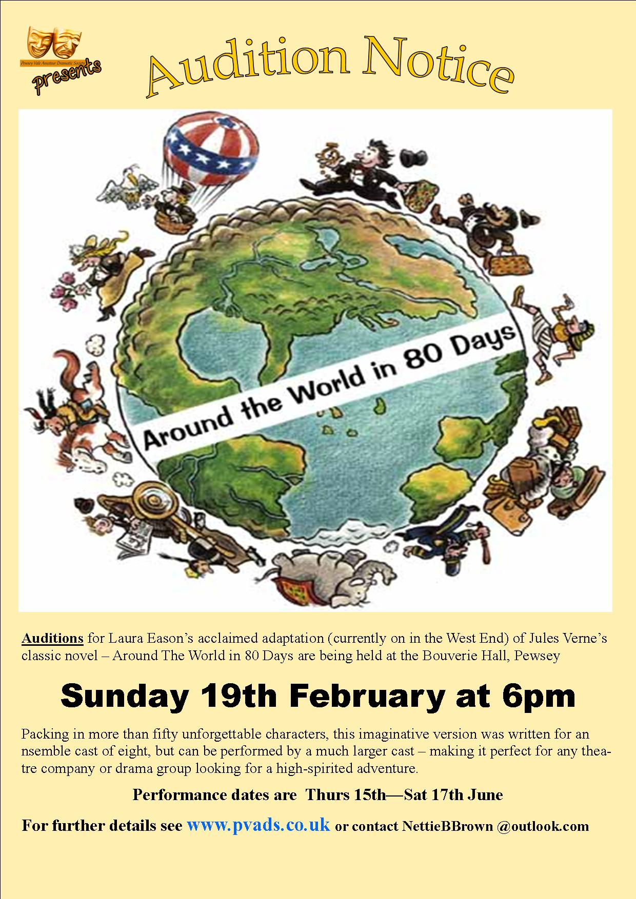 AUDITIONS – Play – Around the World in 80 Days – PVADS Website