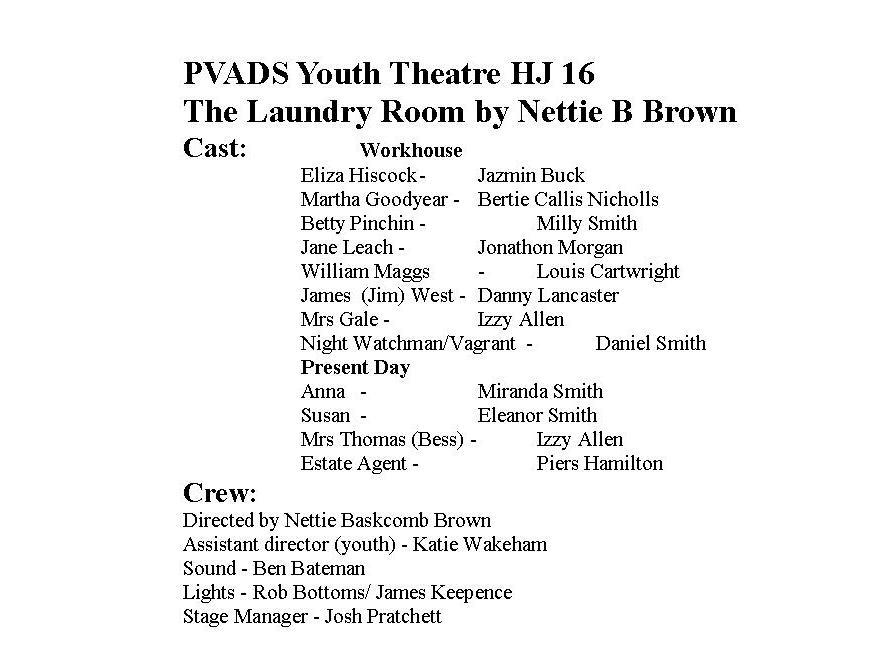 Laundry Room cast list